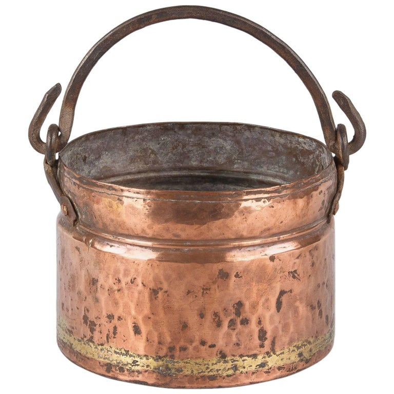 19th Century French Copper Bucket At 1stdibs