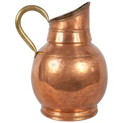 French Copper Pitcher, Early 1900s