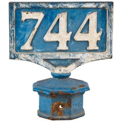 Painted Cast Iron Railway Sign, France, Late 1800s