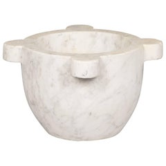 French Marble Mortar, Late 1800s
