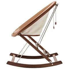 Scandinavian Rocking Nest Chair by Anker Bak for Carl Hansen & Son