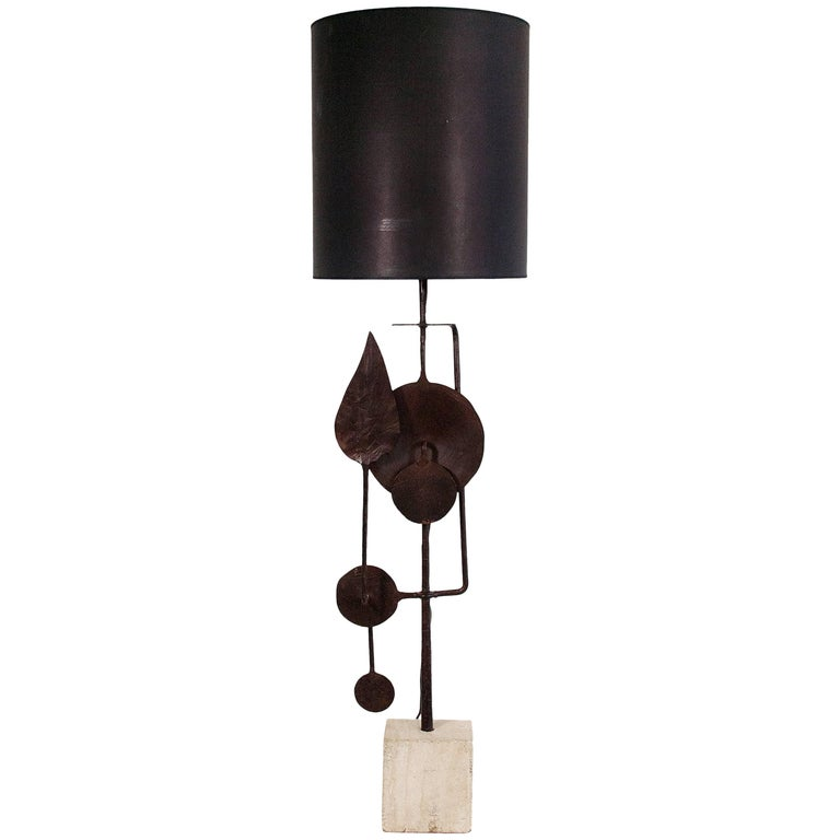 Very Large Sculptural Table Lamp by Giovanni Banci, circa 1970, Italy For Sale