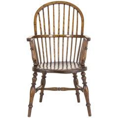 Windsor Chair Antique Chair Elm High Back Chair, Scotland, 1920