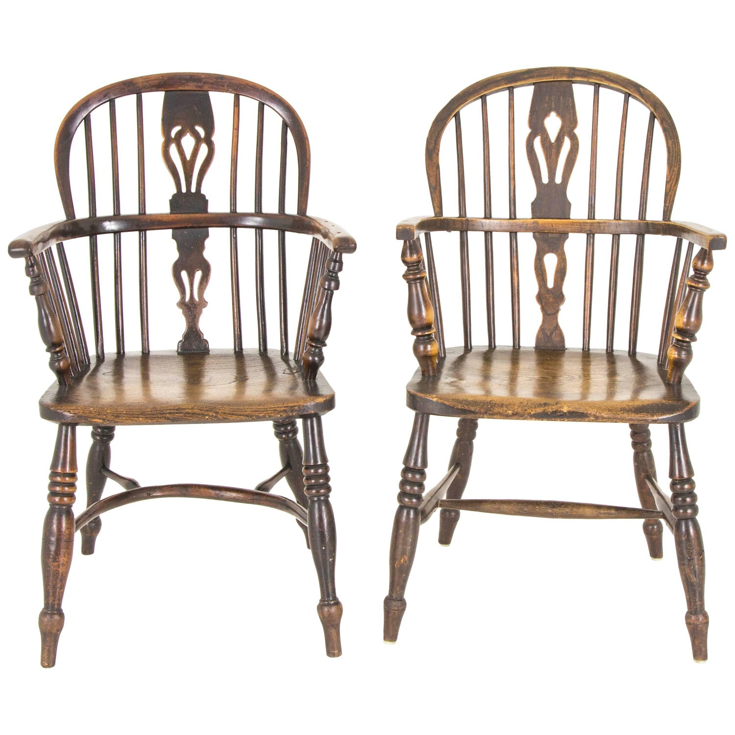 Pair of Windsor Chairs Antique Chairs High Back Chairs Scotland