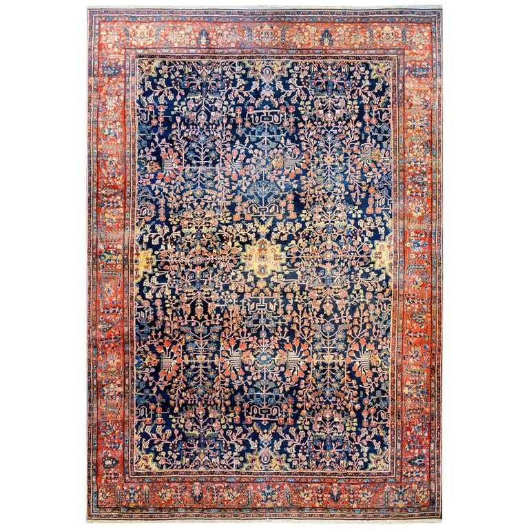 Unbelievable Late 19th Century Sarouk Farahan Rug