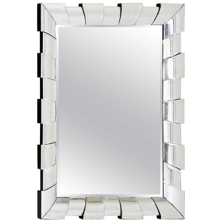 Large wall mirror with architectural form for sale at 1stdibs for Large wall mirrors for sale