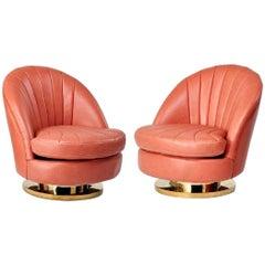 Baughman Swivel Cube Lounge Chair Chrome Base