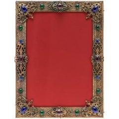 Jeweled Gilt Bronze Picture Frame