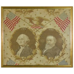 Antique Presidential Campaign Textile, 1889
