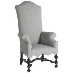 William & Mary Tall Armchair, circa 1800