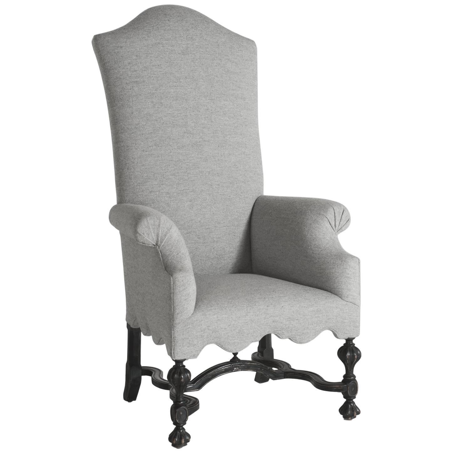 William U0026 Mary Tall Armchair, Circa 1800 For Sale