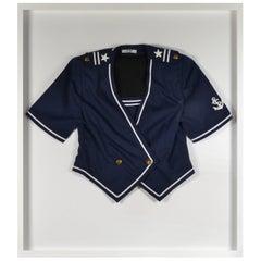 Vintage Blue Officers Type Nautical Coat