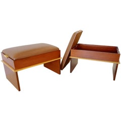 Pair of Paul Frankl Storage Benches from the Station Wagon Group