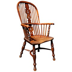 Late Regency Yew Wood Windsor Armchair