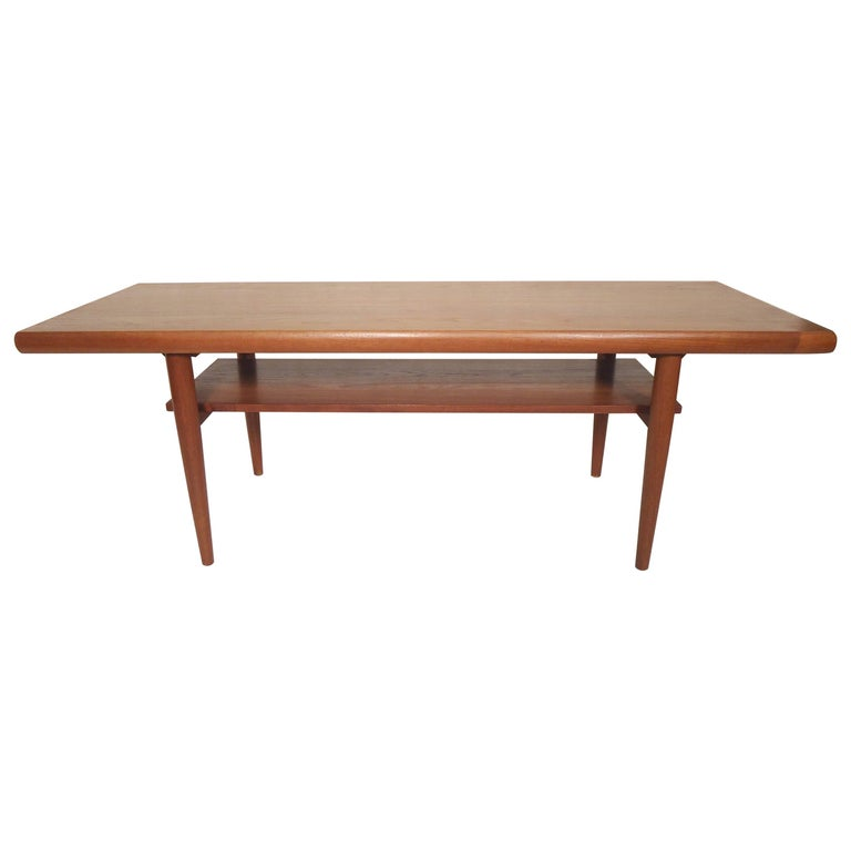 Danish modern teak coffee table for sale at 1stdibs for Modern coffee table for sale