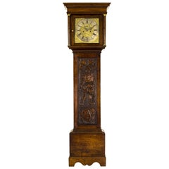 Grandfather Clock Long Case Clock Brass Faced, Carved, Sutton Stratford