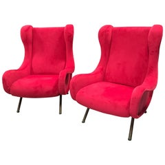 Marco Zanuso Senior Armchairs 1950 1960 for Arflex