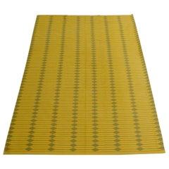 Danish flat-weave modernist large area rug