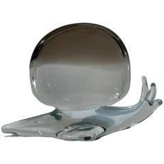 Licio Zanetti Murano Glass Snail Sculpture