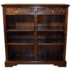 19th Century English Carved Bookcase