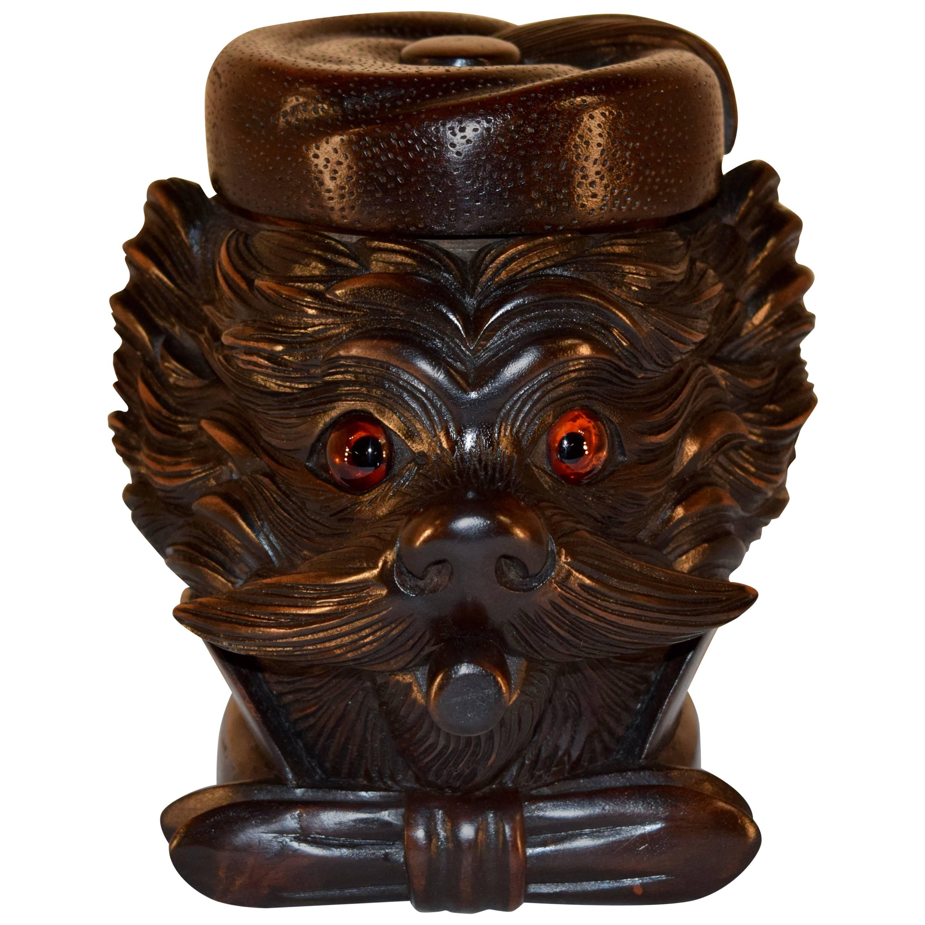 19th Century Black Forest Carved Humidor