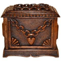 19th Century Folk Art Carved Box
