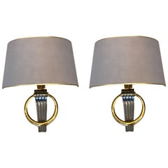 Exquisite Pair of Maison Jansen Neoclassical Wall Lights