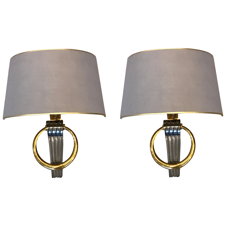 Exquisite Pair of Maison Jansen Neoclassical Wall Lights