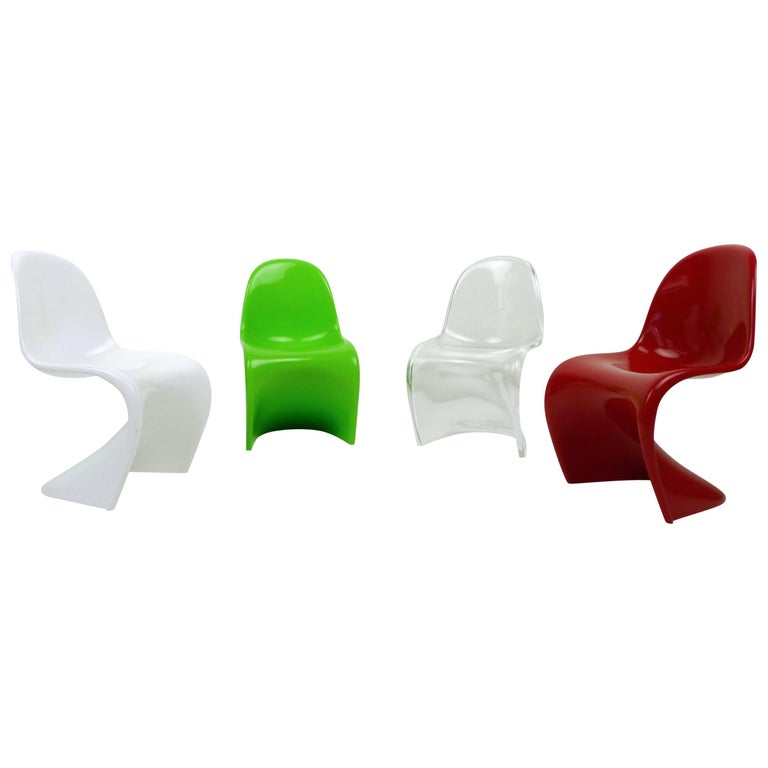 Set of Four Miniature Panton Chairs from Germany, 1970s