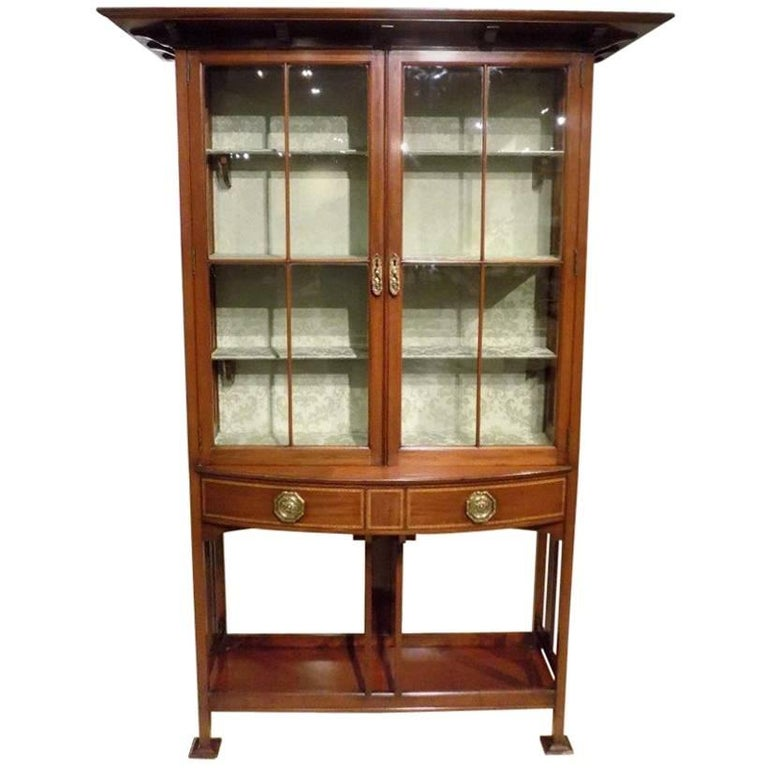 Fine quality mahogany arts and crafts period cabinet by for Arts and crafts storage cabinet