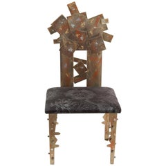 """""""Nel Profondo del Mare"""" Brutalist Brass Chair by Valerio Saltarelli Savi"""