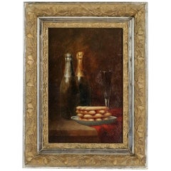 Sign by Charles Boyer, Oil on Canvas, the Champagne Delights, circa 1880-1890
