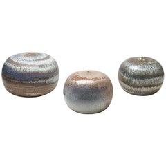 Set of Three Ceramic Vases by Antonio Lampecco, circa 2000