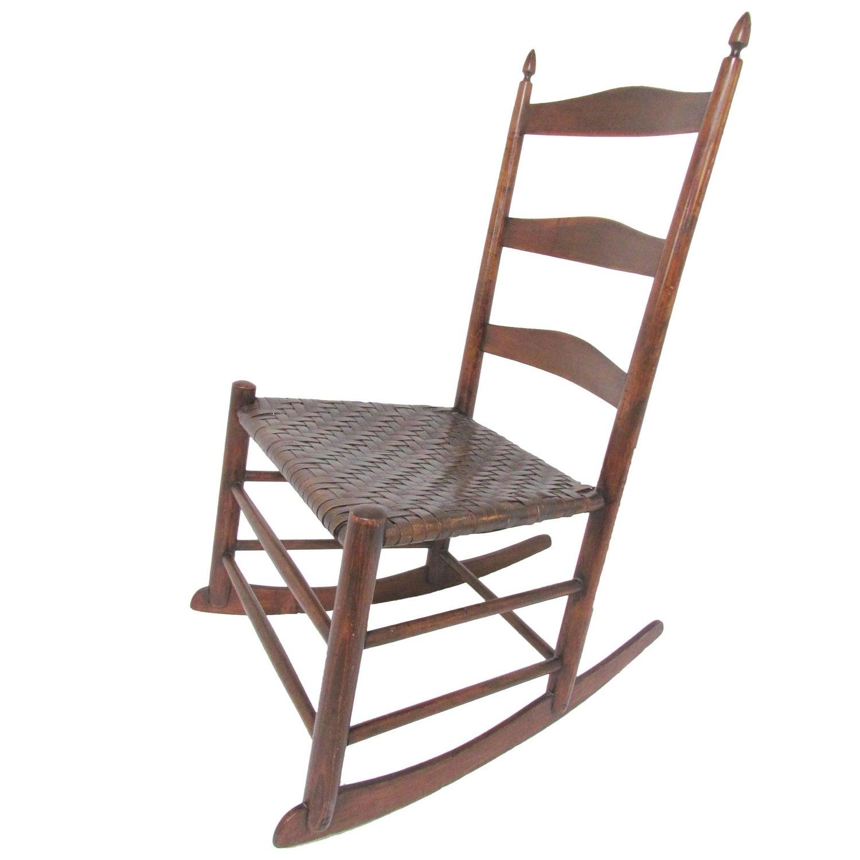 Authentic Original Mt Lebanon Shaker No 3 Rocking Chair For Sale
