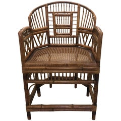 Chinese Chippendale Brighton Pavilion Bamboo Armchair