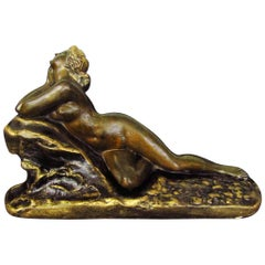 Art Deco Nude Sculpture by J. Garnier, France, 1925
