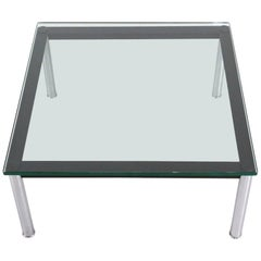 Le Corbusier Glass Table LC10 by Cassina