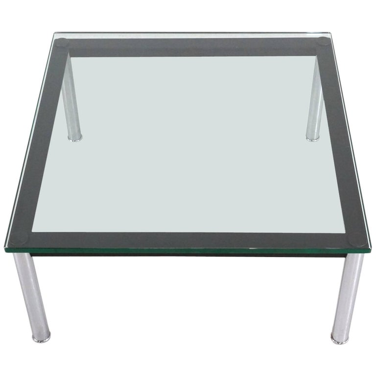 Le Corbusier Glass Table LC10 by Cassina For Sale
