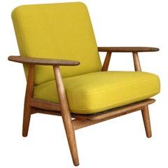 Hans Wegner Oak 'Cigar' Lounge Chair Model GE240 GETAMA, Denmark