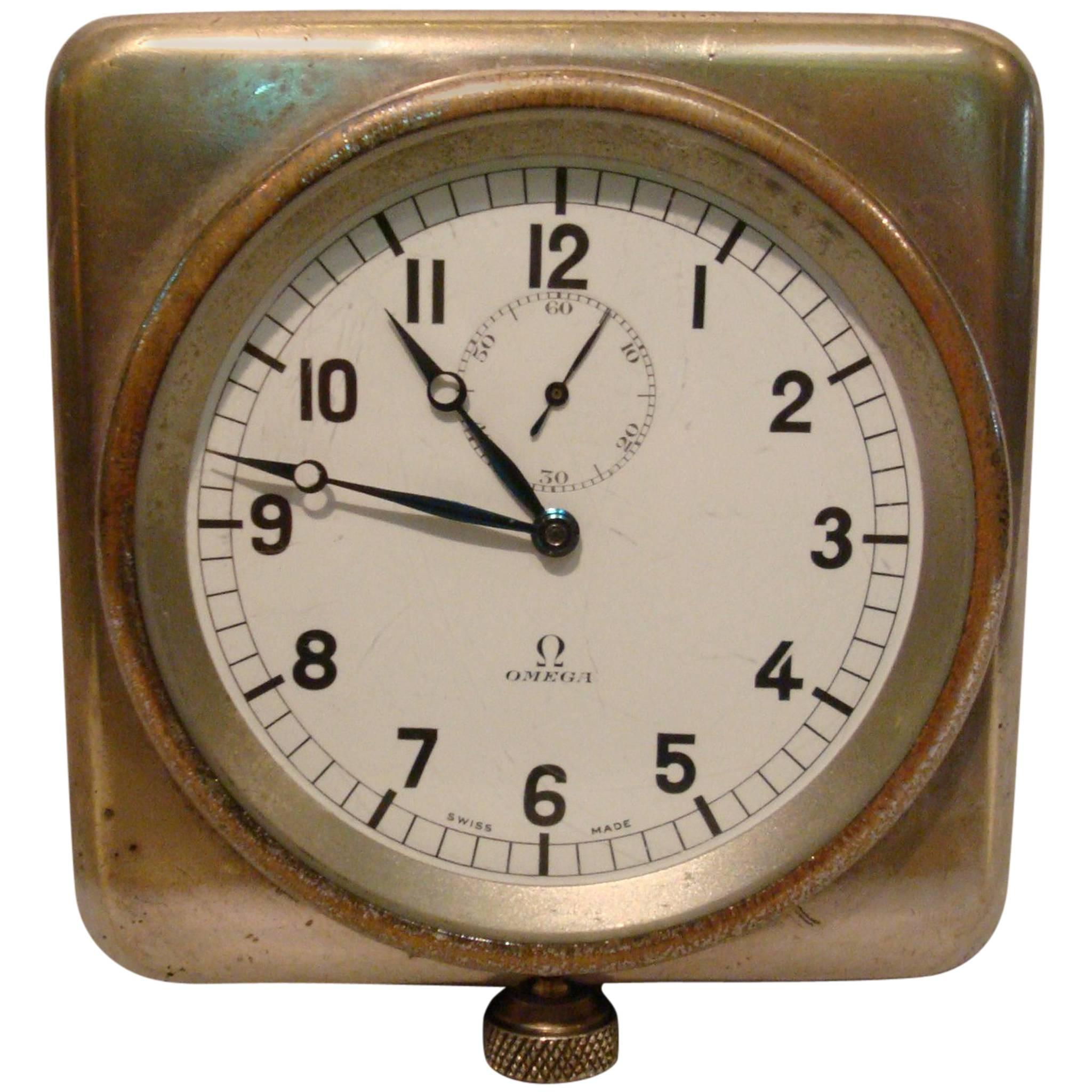 Rare Nautical Omega Clock Royal Navy Submarine, Ship, 8 Days