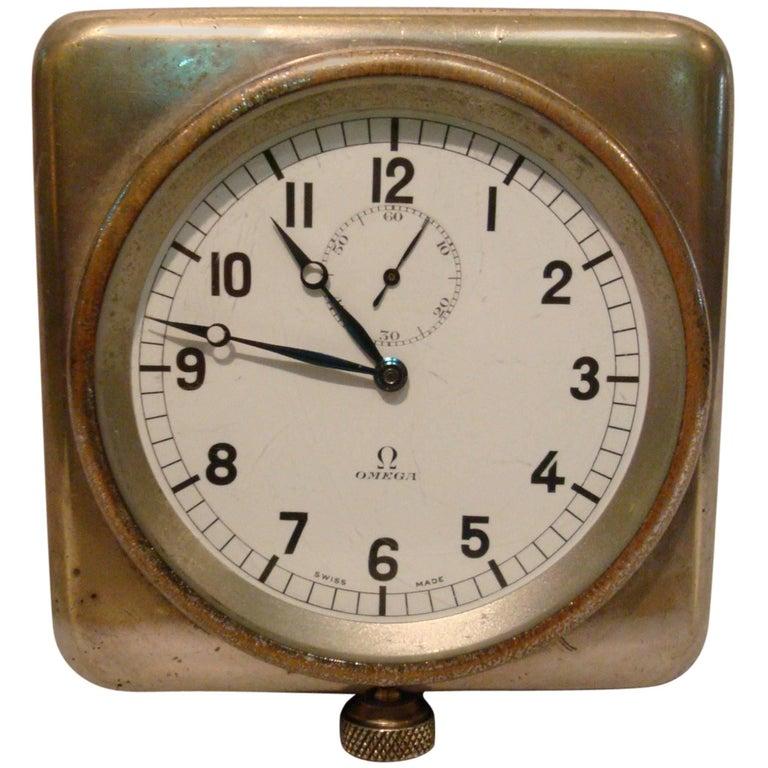 Rare Nautical Omega Clock Royal Navy Submarine, Ship, 8 Days For Sale