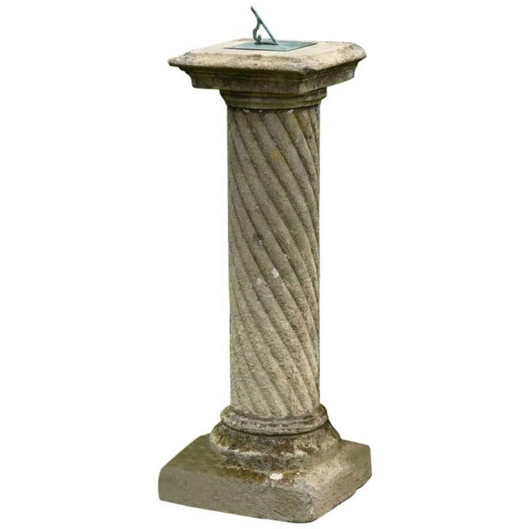 Carved stone sundial for sale at stdibs