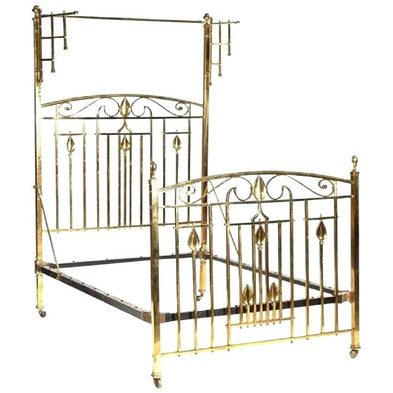 All Brass Half Tester Bed, MHT3 For Sale at 1stdibs