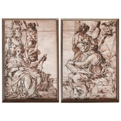 Pair of Old Master Drawings