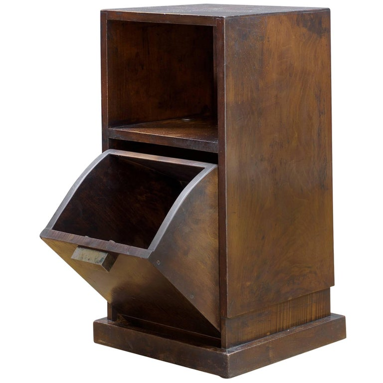 Boris LaCroix style French Art Deco Bedside Cabinet Nightstand with Nickel Pull