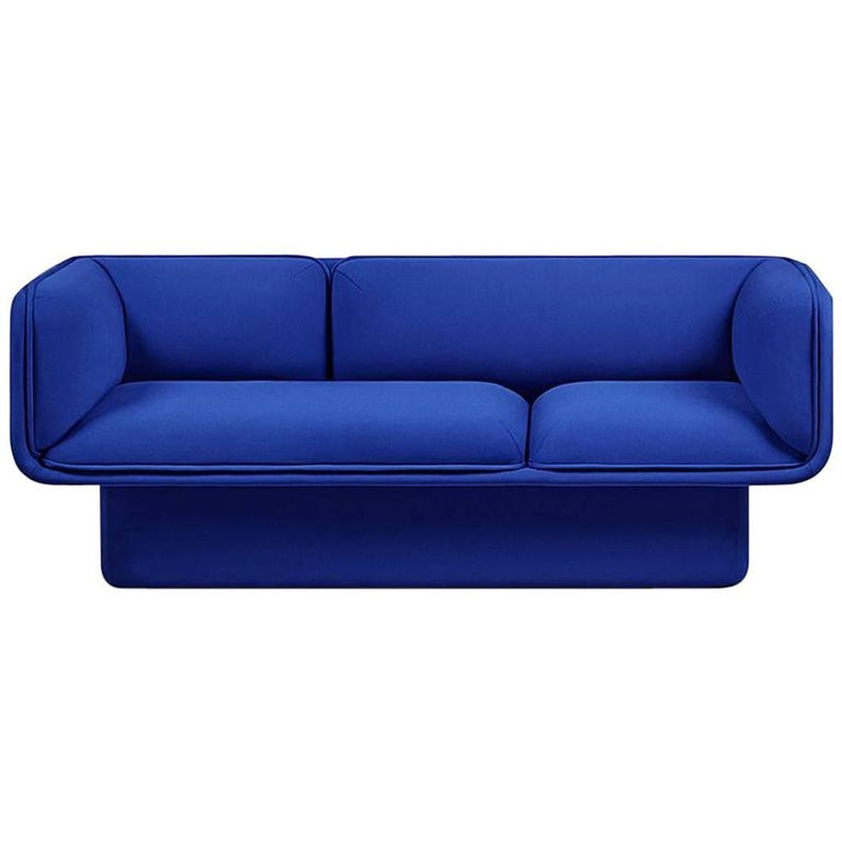 Block blue sofa studio mut for sale at 1stdibs for Blue sofas for sale