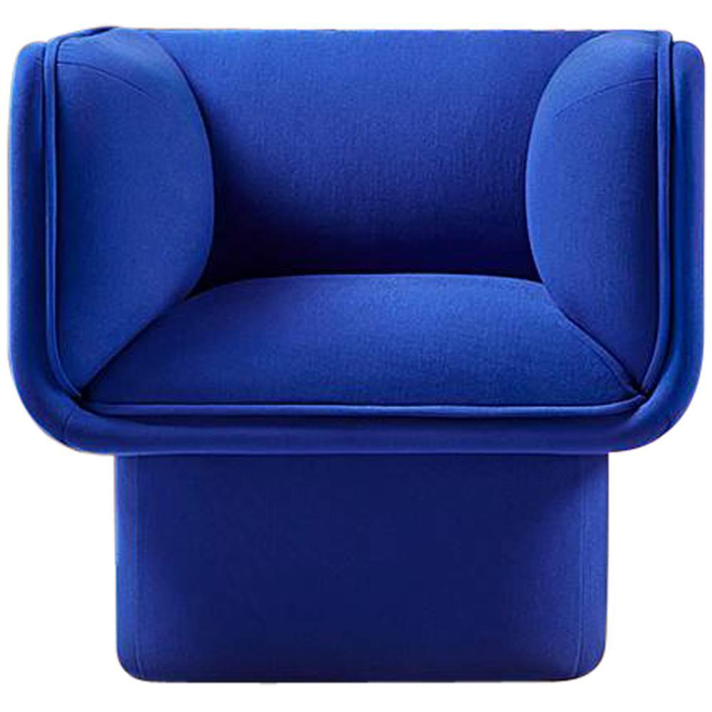Block Blue Armchair, Studio Mut For Sale