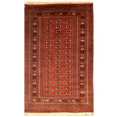Bokhara Turkaman Tekke Handwoven Silk and Wool Rug