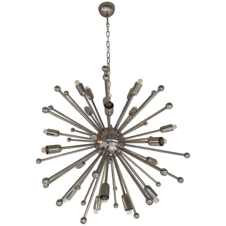 Chandelier Sputnik Chrome, Italy, 1970s