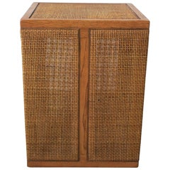 Small Square Wicker Rattan Side or End Table